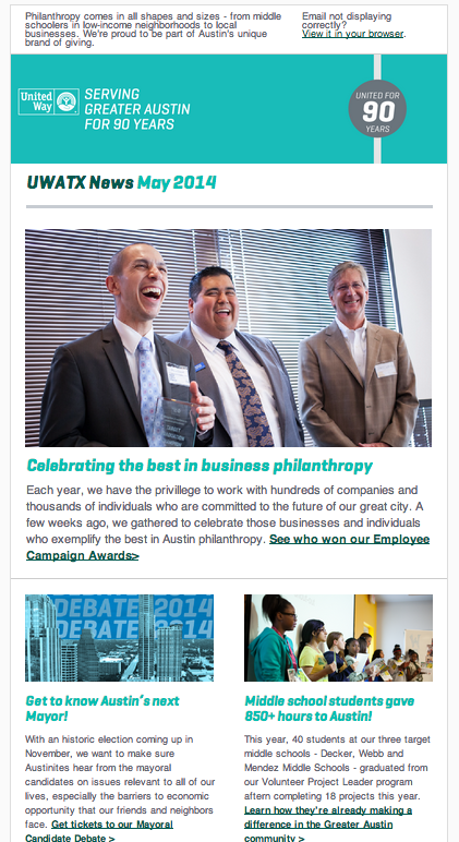 United Way for Greater Austin newsletter - May 2014