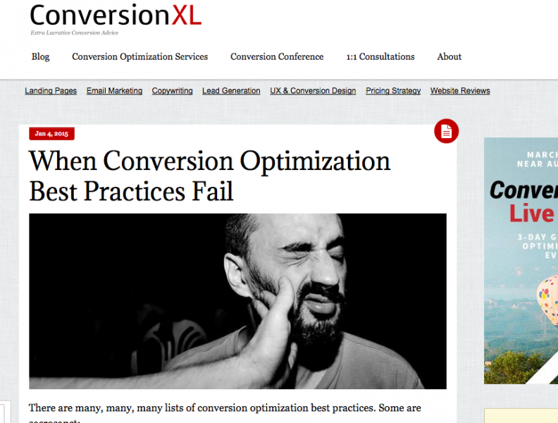When Conversion Optimization Best Practices Fail