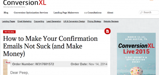 How to make your confirmation emails not suck