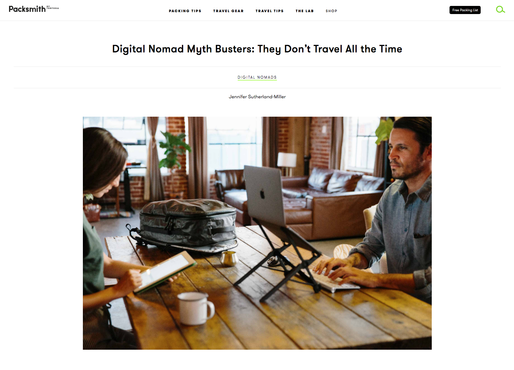 On being a digital nomad